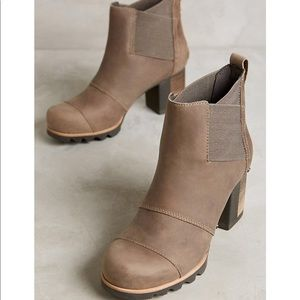 🆕 SOREL x Anthropologie beige leather ankle boots